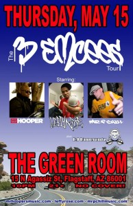 3 Emcees Tour-May 15-Flagstaff AZ