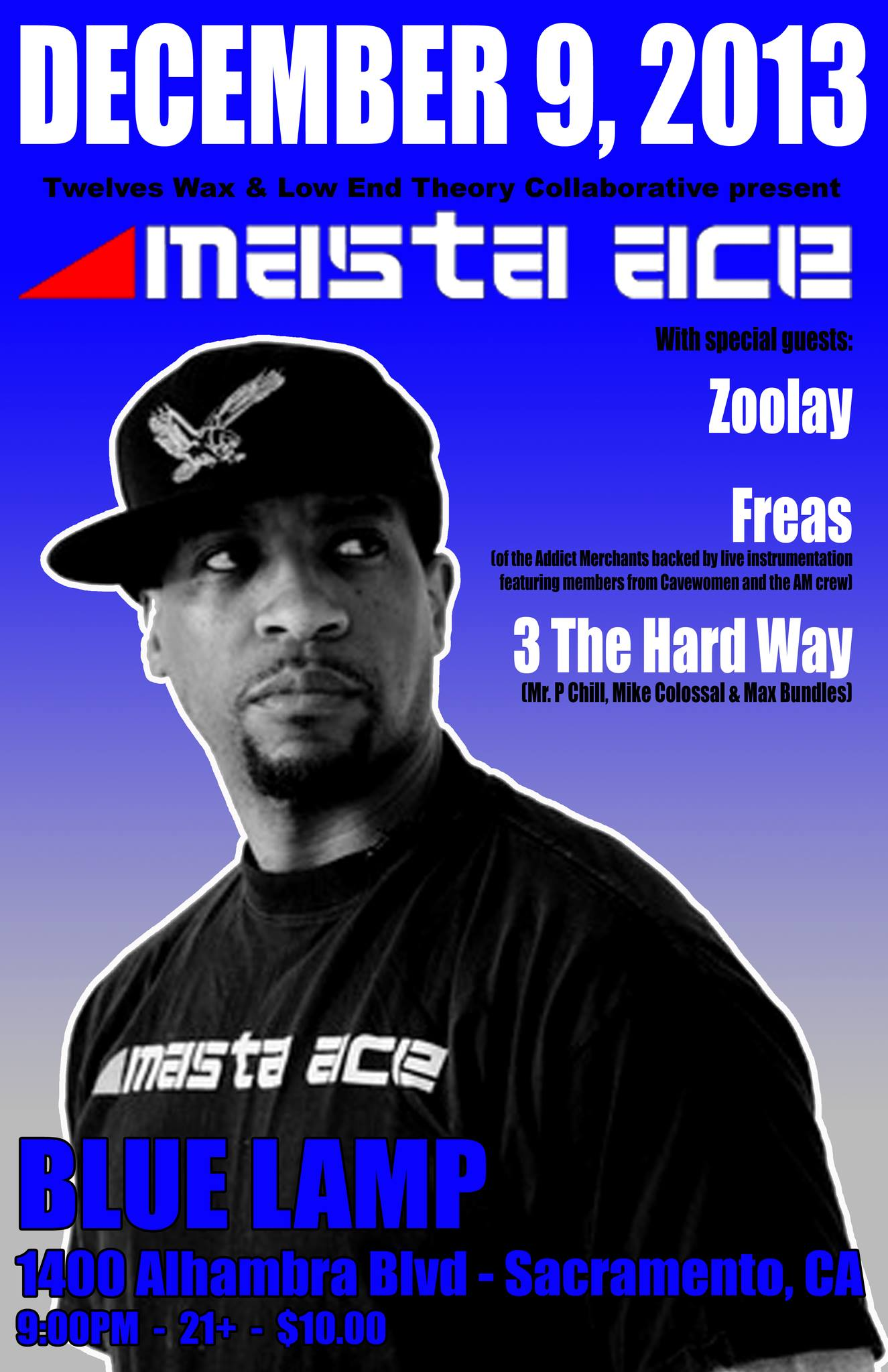 Dec 9 at Blue Lamp with Masta Ace