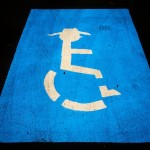 Handicapped cowboy parking