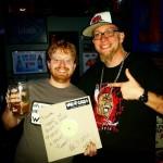 Dustin in Pittsburg Kansas with signed vinyl