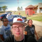 Mr P Chill Lumis and Mike Colossal rest stop in Kansas