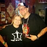 Terri in Pittsburg Kansas in her Mic Star tshirt